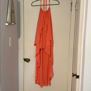 ArdenB high low coral dress